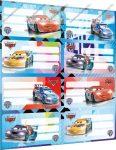 Cars/Verdák füzetcímke (8 db/lap)