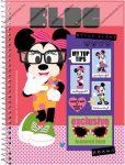 A5 Négyzethálós/Kockás spirálfüzet - Minnie Mouse