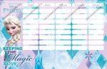 Frozen/Jégvarázs Castle kétoldalas órarend