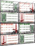 City/Városos füzetcímke (8 db/lap)