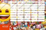 Emoji kétoldalas órarend