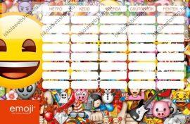 Emoji kétoldalas nagy órarend