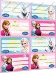 Frozen/Jégvarázs füzetcímke (8 db/lap)