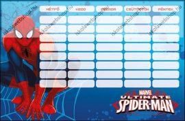 Spider Man/Pókember Ultimate kétoldalas órarend