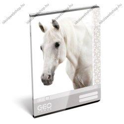 Horse/fehér Lovas A4 kockás füzet