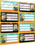 Minions füzetcímke (8 db/lap)