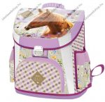 Lizzy Card Lovas/Morning star Pink/Wild Beauty Brown Prémium kompakt iskolatáska