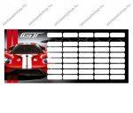 Ford GT/Autós órarend piros (18x8 cm)