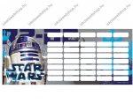Star Wars órarend (18x8 cm)