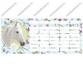 Lovas/Wild Beauty White órarend (18x8 cm)