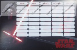 Star Wars Kard kétoldalas órarend
