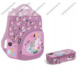 Lizzy Card Lollipop UNI-COOL Unikornis/Lovas Active+ hátizsák + tolltartó szett