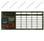 #peace, Pixel mini órarend