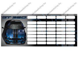 Ford Mustang Blue/Autós mini órarend