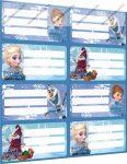 Frozen/Jégvarázs füzetcímke (8 db címke/lap)
