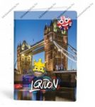 Mmoji A4 kockás füzet, London (1 db)