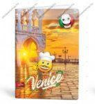 Mmoji A4 kockás füzet, Velence (1 db)