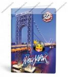 Mmoji A4 vonalas füzet, New York (1 db)