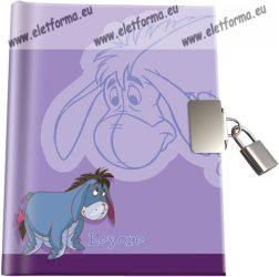Keményfedeles emlékkönyv kulccsal és lakattal, Füles (A6)