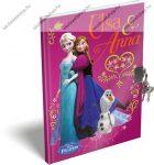 Keményfedeles emlékkönyv kulccsal és lakattal, Frozen/Jégvarázs Pink (A5)