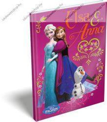 Keményfedeles emlékkönyv, Frozen/Jégvarázs Pink (A5)