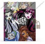 Monster High kulcsos emlékkönyv lakattal + ajándék tollal, A5