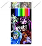 Színesceruza 12 szín fémdobozos Monster High