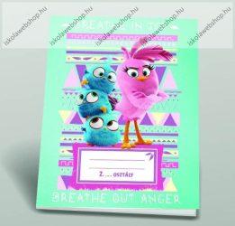 Angry Birds girls 2. osztályos vonalas füzet, A5/16-32