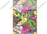 SilverBall Graffiti Girl A4 kockás füzet A4/(87-32)