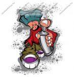 SilverBall Graffiti Boy A4 sima füzet A4/(80-32)