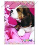 Animals Home - Kutya pink kockás füzet, A/4