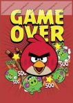 Angry Birds Game Over A4 kockás füzet, A4/87-32