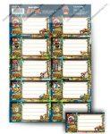 Angry Birds EPIC Füzetcímke, 160x230mm 10 címke/ív