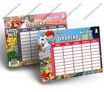 Angry Birds kétoldalas órarend (16,5x11,7 cm)