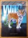 A4 vonalas spirálfüzet, Wild - Tigris, 50 lapos