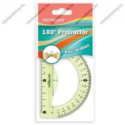Szögmérő, törhetetlen, 180 fokos -  KEYROAD