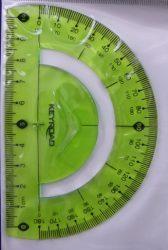 Szögmérő, flexibilis törhetetlen, 180 fokos, zöld-  KEYROAD
