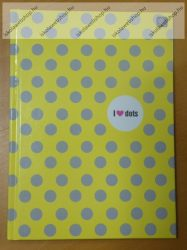 Keményfedeles notesz, I love dots (A5)