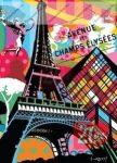 City - Párizs gumis mappa,  A/4