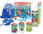 Iskolakezdő csomag karácsonyi díszdobozban/Ajándék csomag, KEYROAD