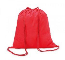 Egyszínű sportzsák/tornazsák, piros, 30x40 cm