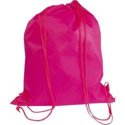 Egyszínű sportzsák/tornazsák, pink, 30x40 cm