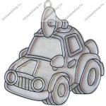Fényvarázsforma, kicsi autó-hangosbemondós