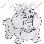 Fényvarázsforma, kicsi kutya-buldog