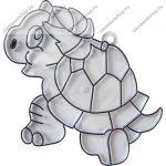 Fényvarázsforma, kicsi teknősbéka