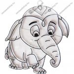Fényvarázsforma, kicsi elefánt