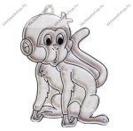 Fényvarázsforma, kicsi majom