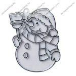 Fényvarázsforma, kicsi hóember (arany szegéllyel!)