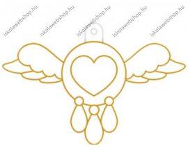 Fényvarázsforma, kicsi szív szárnyakkal