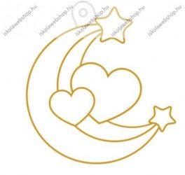 Fényvarázsforma, kicsi hold és szív